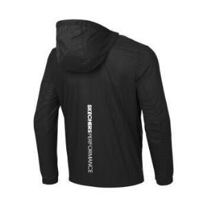 Skechers斯凯奇官方新款男子轻盈梭织连帽外套运动休闲服夹克P220M002碳黑/0018L*2件    297.8元(合148.9元/件)