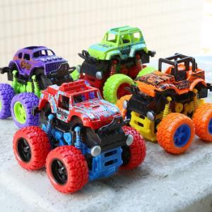 惯性越野四驱玩具车男孩2-6岁汽车模型仿真车模大脚四驱车颜色随机发货2只装-越野四驱车35.8元