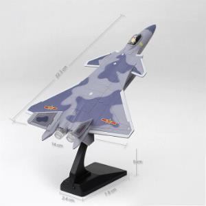 航空模型歼J20合金飞机声光回力军事金属模型歼15战机收藏礼品摆件J20天空灰59.9元