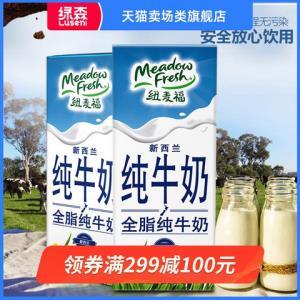 纽麦福新西兰纯牛奶全脂蛋白质早餐奶进口250ml*24盒*4件 199.6元(合49.9元/件)