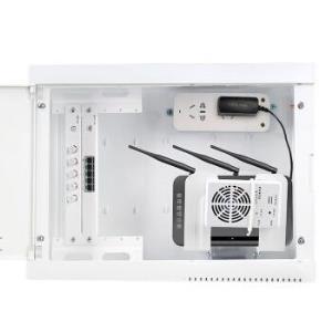 德力西电气(DELIXIELECTRIC)家用暗装弱电箱多媒体光纤箱多媒体信息箱集线箱大号400*300塑料面板套餐 152.95元