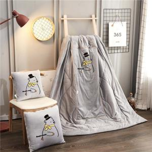 北欧办公室被午睡枕汽车抱枕被子两用靠垫被靠枕空调腰靠40元