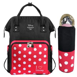 迪士尼(Disney)妈咪包多功能大容量双肩包外出背包时尚妈妈包手提母婴包波点妈咪包*2件