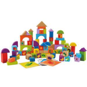 Hape积木玩具120粒水果蔬菜E8303