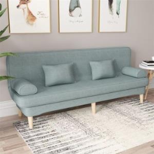 零梦棉麻两用可折叠懒人沙发(配2扶手2腰枕)浅色