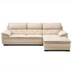 KUKa顾家家居DK.1022真皮沙发组合3+躺 6399.4元