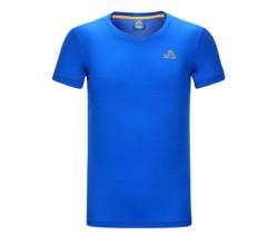 PELLIOT伯希和中性运动T恤2621512孔蓝S