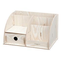 Comix齐心B2231多功能木质创意组合收纳盒9.45