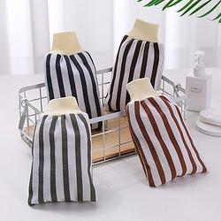 纳合条纹束口搓澡巾随机色3个装 9.9元包邮(需用券)