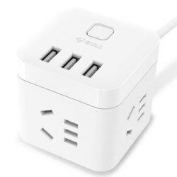 BULL公牛GN-U303U白色魔方USB插座1.5m 47.24