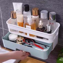 卫生间厕所洗手间置物架壁挂厨房免打孔墙壁墙上卧室洗漱台收纳盒单层白色14.8元