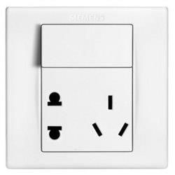 SIEMENS西门子西门子(SIEMENS)开关插座10A五孔带开关插座86型暗装面板品宜 13.51元
