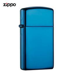 ZIPPO之宝之宝(Zippo)打火机纤巧蓝冰PVD浸染20494煤油防风火机 164元