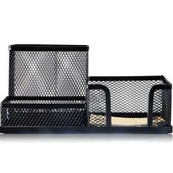 TANGO天章天章办公(TANGO)笔筒金属镂空网纹多功能创意时尚喷塑防锈办公笔筒6.75