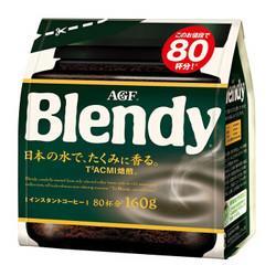 AGFBlendy深度烘焙速溶咖啡冰水速溶黑咖啡160g*5件