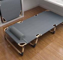 耐朴折叠床单人床午睡家用简易午休床陪护便携多功能行军床办公室躺椅 39.9元