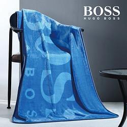 HUGOBOSSX天猫会员店毛毯办公室空调毯午睡午休毯子单双人盖毯99.9元
