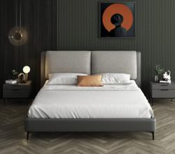 SLEEMON喜临门约灵全实木可拆洗布艺软包床1.5/1.8m