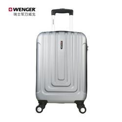 WENGER威戈小型商务密码锁登机箱20英寸行李箱拉杆箱男女银色(SAX631117107058)399元