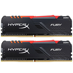 金士顿(Kingston)DDR4360016GB(8G×2)台式机内存条RGB灯条骇客神条Fury雷电系列729元