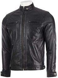 AbsoluteLeather男式Savio黑色经典真羊皮夹克 651.72元