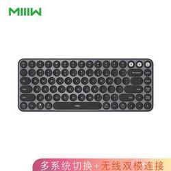 米物(MIIIW)双模无线蓝牙键盘双系统静音键盘适配苹果Mac笔记本iPad电脑办公键盘85键黑色    139元(需用券)