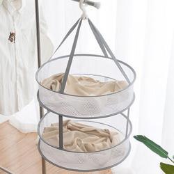 阿依妈妈晾衣网晒衣篮晾晒衣服神器毛衣凉袜子专用的网兜平铺羊毛衫晾衣架双层*3件52.5元(合17.5元/件)