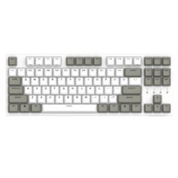 DURGOD杜伽TAURUSK32087键有线机械键盘天然白Cherry银轴无光 459元