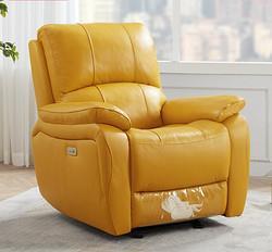 KUKa顾家家居DK.A006功能沙发手动带摆香橙黄 1999元
