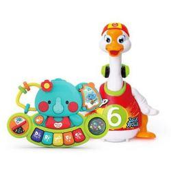 汇乐玩具828C+597摇摆鹅(充电版)+小萌象探索琴婴儿益智玩具套装新年礼物颜色随机108元(需用券)