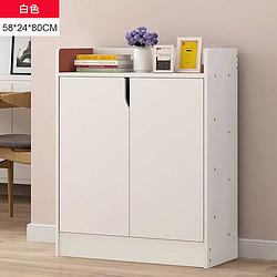 鞋柜家用门口大容量简约现代简易储物柜经济型实木色多层收纳鞋架129元