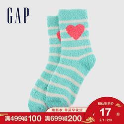 Gap女童可爱珊瑚绒中筒袜652490秋冬新款洋气女宝宝保暖袜子19元