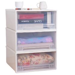 百露衣服抽屉式收纳箱大小号玩具衣柜收纳盒整理箱透明塑料储物箱子加大号2个装*3件307.9元(需用券,合102.63元/件)