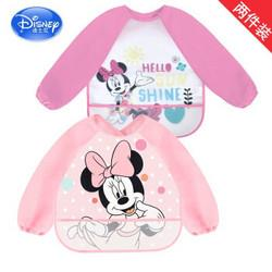 迪士尼(Disney)罩衣反穿衣宝宝吃饭罩衣婴儿围兜围嘴儿童饭兜饭衣*6件170元(需用券,合28.33元/件)