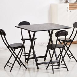 镜立方简易折叠桌80*80*75 78.49元(需买4件,共313.96元)