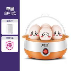 领锐煮蛋器蒸蛋器自动断电迷你家用蒸蛋羹煮鸡蛋器早餐煮蛋机小型神器橙色-单层19.9元