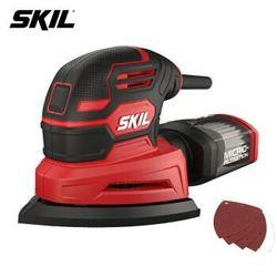 SKIL老鼠型砂光机7260家用小型多功能无尘抛光工具木工腻子打磨机三角砂纸机*2件324.2元(需用券,合162.1元/件)