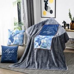 FOOJO抱枕被简约办公室靠垫抱枕沙发靠枕魔法绒毯子午休抱枕方枕森林鹿110*150cm39.9元