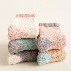 棉哆点秋冬珊瑚绒袜子5双*3件62.79元(合20.93元/件)