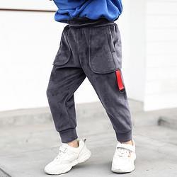 七柚男童加厚休闲运动裤19元
