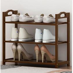 鞋架简易子门口放家用室内好看经济型竹收纳神器置物架实木小鞋柜19.76元