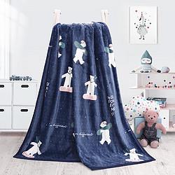 水星家纺白熊法兰绒毯白熊法兰绒毯100CMX140CM 49元