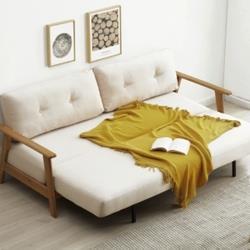 YESWOOD源氏木语Y84H02实木折叠沙发床 2494.8元