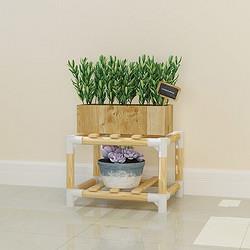 华哩哩花架实木花架子客厅阳台室内多层落地式花盆架子花开富贵A01*3件43.2元(合14.4元/件)