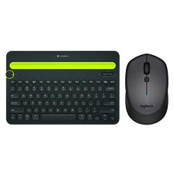 罗技(Logitech)K480多设备无线蓝牙键盘鼠标套装k480蓝牙键盘黑色+m336蓝牙鼠标黑色249元