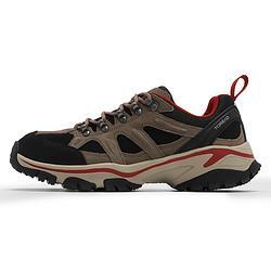 Toread探路者男鞋2021春季新款低帮鞋子运动鞋户外翻毛牛皮徒步鞋*4件    1046元(合261.5元/件)