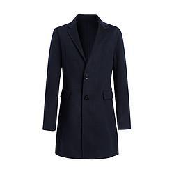 男装秋冬新品男士毛呢大衣中长款刺绣双面尼大衣397元