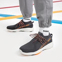 斯凯奇男鞋透气运动鞋一脚套健步鞋透气跑鞋    198元