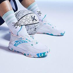 安踏ANTA官方旗舰篮球鞋男实战潮流撞色球鞋篮球鞋实战战靴安踏白/氯蓝/婴儿粉-38.5(男42)*2件 448元(需用券,合224元/件)
