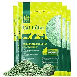 (限前1小时,猫超直送,返5元猫超卡)耐威克绿茶除臭豆腐混合猫砂2.8kg*4袋    59.9元(需用券)